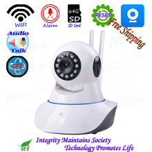 HD 1080PWIFI 720P IR Leds PT Camera ONVIF Night View P2P IP Cam IR Network CCTV Alarm Cam 64G SD Card Live talk AP Reset Indoor
