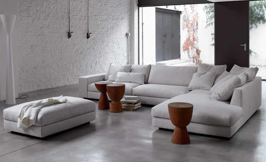 big l shape modern simple sofa fabric living room comfortable couch .