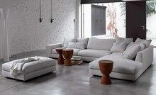 Free Shipping White sofa fabric French design 2016 new Living Room L shaped Fabric Corner modern fabric sofa fabric luxury F9105
