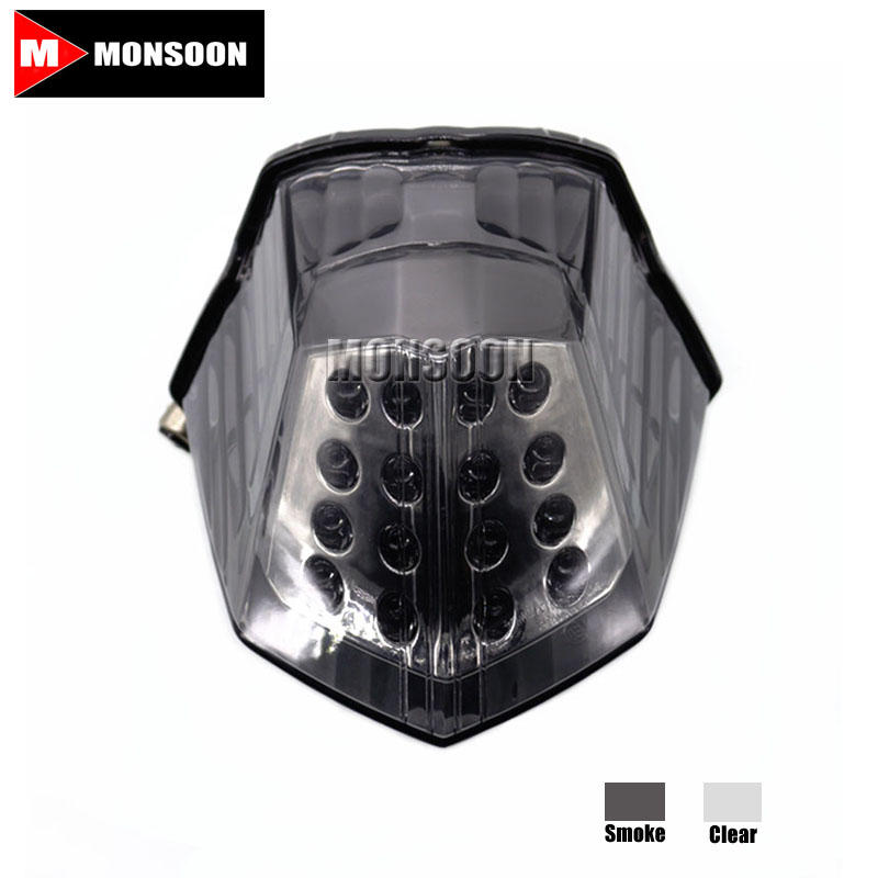 For YAMAHA XJ6 2009-2014 FZ6R 2009-2014 DIVERSION 600 2009-2014 Motorcycle Accessories LED Tail Light Smoke