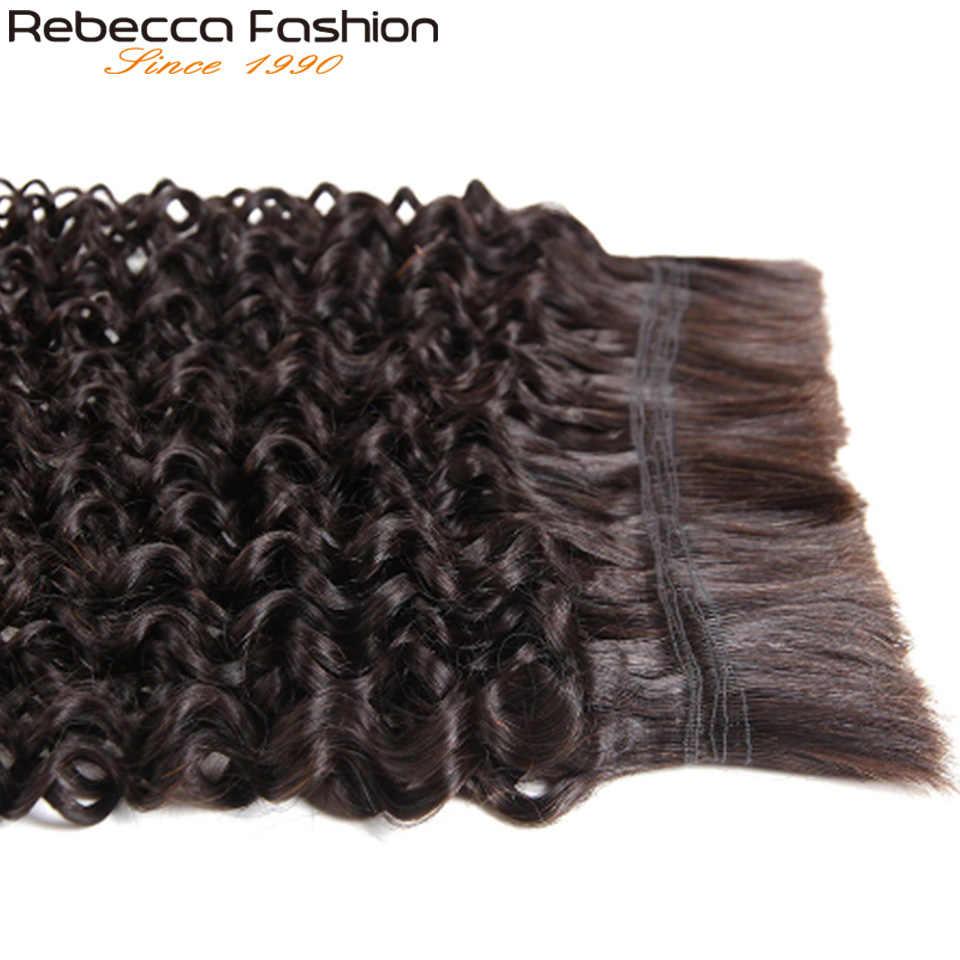 Rebecca remy волосы оптом без Уток 1 шт. бразильский Джерри локон человеческие волосы для плетения предварительно цветные человеческие волосы косы 10-30 дюймов Бесплатная доставка