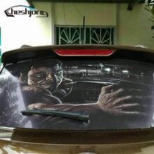 جديد وصول نافذة السيارة الخلفية فيلم سيارة الزجاج الأمامي الخلفي تينت طريقة واحدة رؤية مطبوعة شبكة فيلم