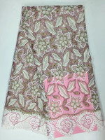 Pink luxury good embroidery wedding gauze mesh lace fabric/lace fabric white evening dress in Africa 09