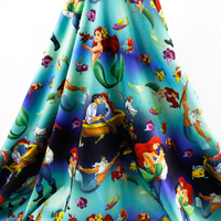 50 145cm Fish Girl 4 Ways Stretch Knit Fabric For Tissue Kids Bedding Home Textile For