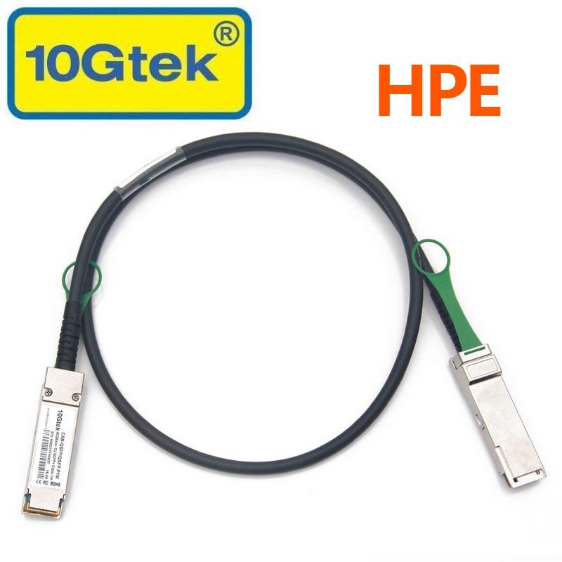 HPE JG326A 40Gb/s QSFP+ DAC QSFP+ 40G Passive Direct Attach Copper Cable 1MHPE JG326A 40Gb/s QSFP+ DAC QSFP+ 40G Passive Direct Attach Copper Cable 1M