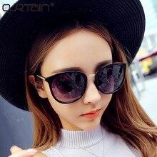 CURTAIN Round Fashion Glasses Oversized Sunglasses Women Brand Designer Luxury Womens Eyeglasses Big Cheap Shades Oculos De Sol