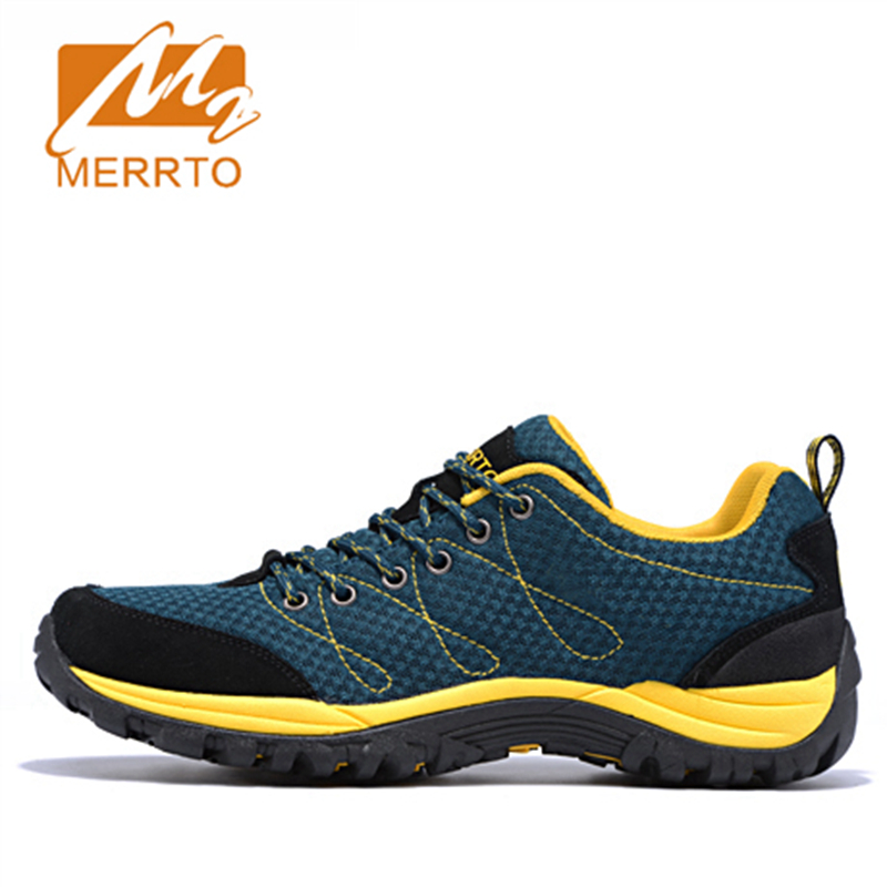2018 Merrto Men Walking Shoes Breathable Outdoor Sports Shoes Travel Shoes Cow Suede For Men Black Grey Free Shipping MT18556 2018 merrto mens walking shoes breathable outdoor sports shoes for men color brown grey red khaki blue free shipping mt18623