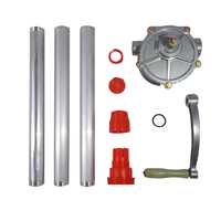 Self priming Dispenser Fuel Transfer Hand Pump Hand Crank Aluminum Alloy Rotary Gas Oil Petrol Diesel Pump