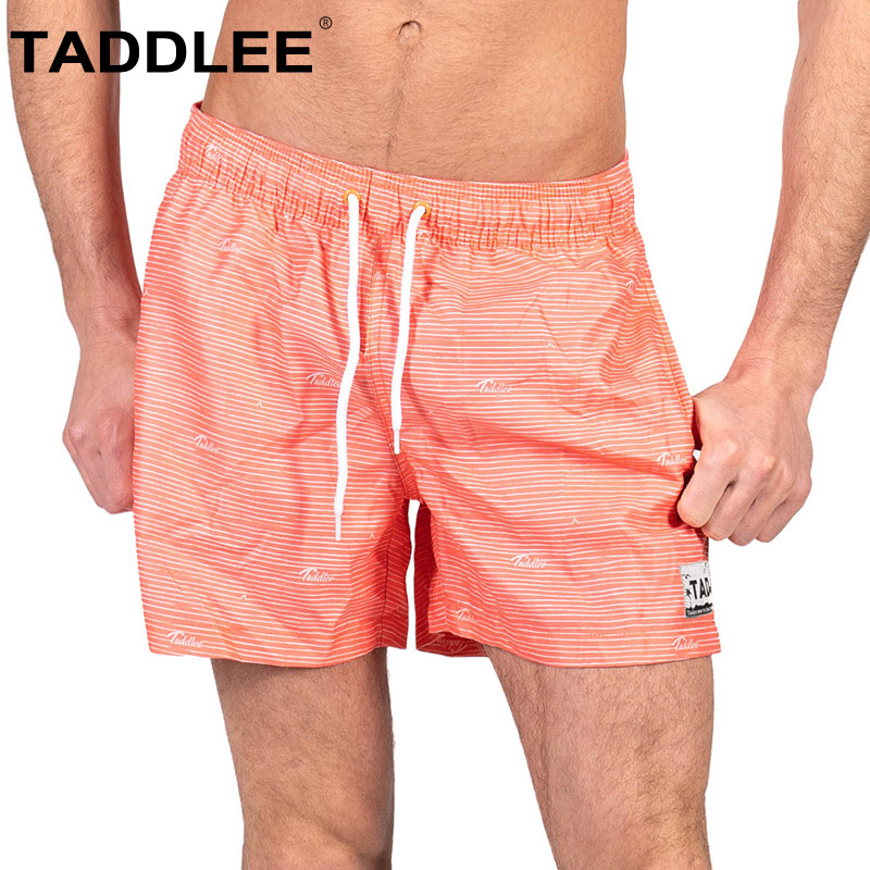Taddlee Brand Men's Swimwear Beach Wear Boardshorts Man Swimsuits Swimming Boxer Trunks Surf   Board     Shorts   Quick Drying Bathing