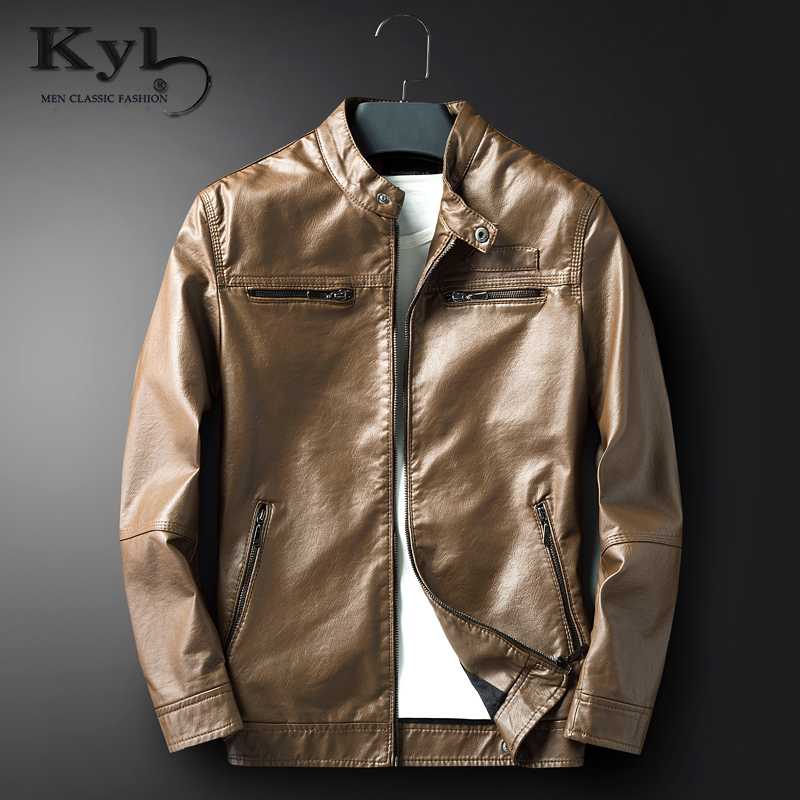 Mens pu leather jacket Long paragraph washing machine locomotive Faux leather cashmere jacket Casual coats Leather cloak for me