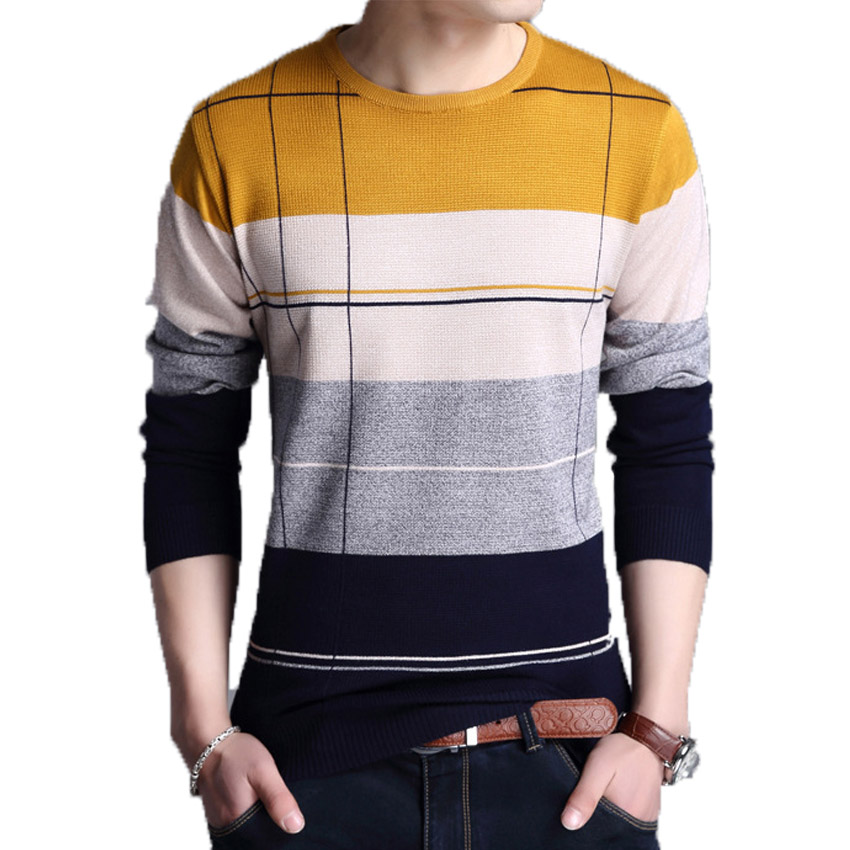 Spring autumn Brand men Casual sweater mens Pullover ...