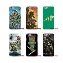 For iPhone X XR XS MAX 4 4S 5 5S 5C SE 6 6S 7 8 Plus ipod touch 5 6 Accessories Shell Cover cartoon Teenage Mutant Ninja Turtles(China)