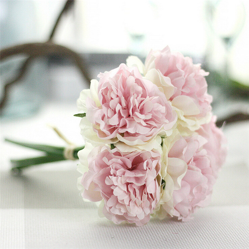 Beautiful High Quality Artificial Silk Fake Flowers Peony Floral ...