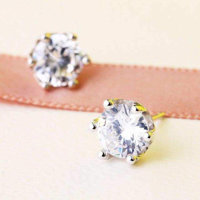 Lozrunve Single Diamond Earrings Sterling Silver Zircon 3a S925 Six Claw A Woman On Behalf