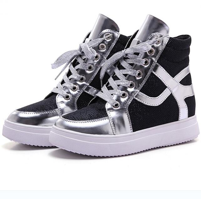 Women Spring Autumn Genuine Leather Height Increase Elevator Sneakers Lady Lace Up Fashion Casual Shoes Size 35-39 SXQ1007