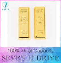 Nouvelle conception d'or usb flash drive 512 GB pen drive 128 GB 8 GB 16 GB 32 GB Gold Bar USB 2.0 Flash mémoire clé usb Bâton disque 256 GB