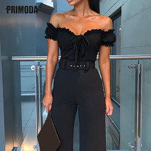 Black White Solid Pleated Sexy Bodysuit