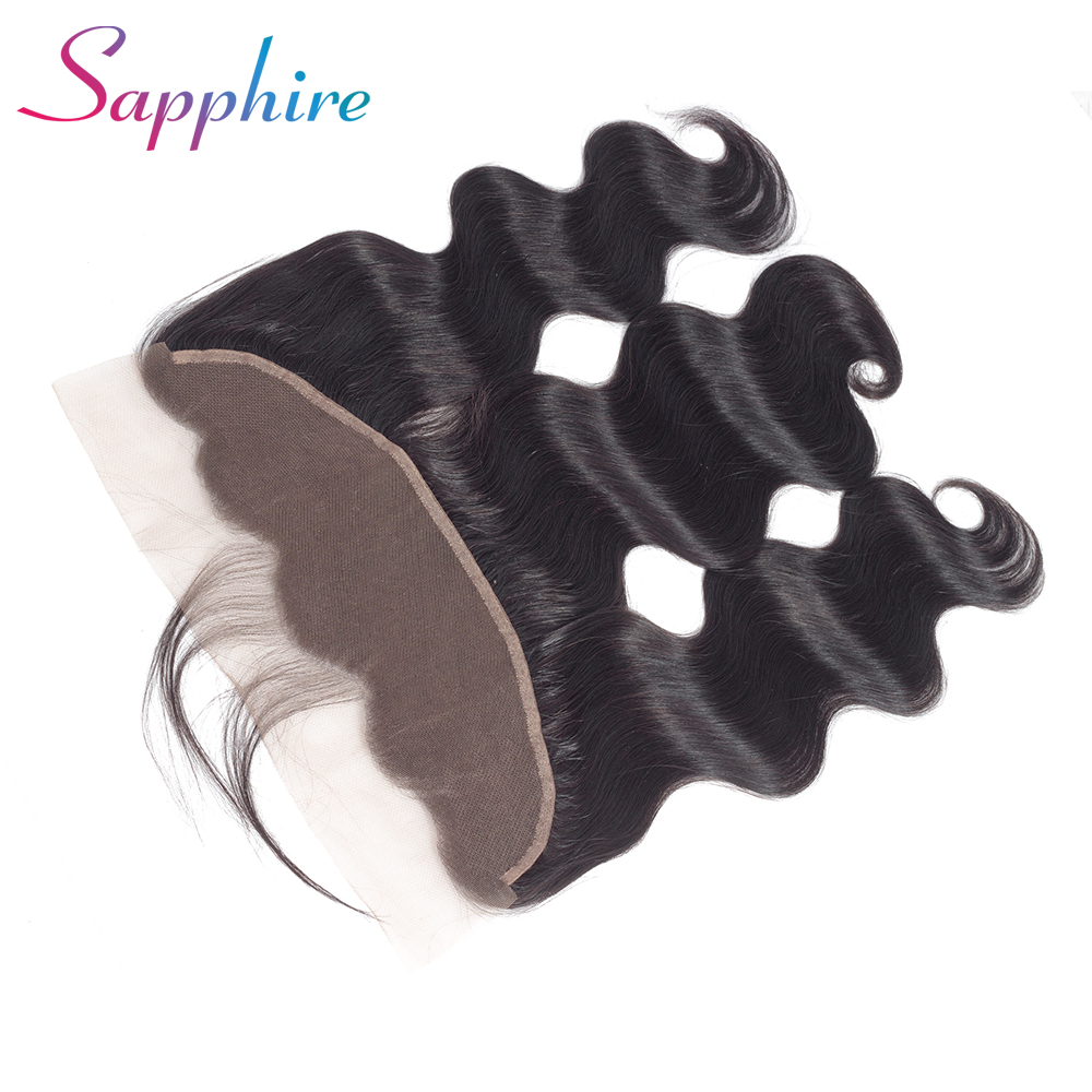 Sapphire Hair Malaysian Body Wave 13*4 Lace Frontal Non Remy 100% Human Hair Frontal Free Part 8-20 Inch Free Shipping