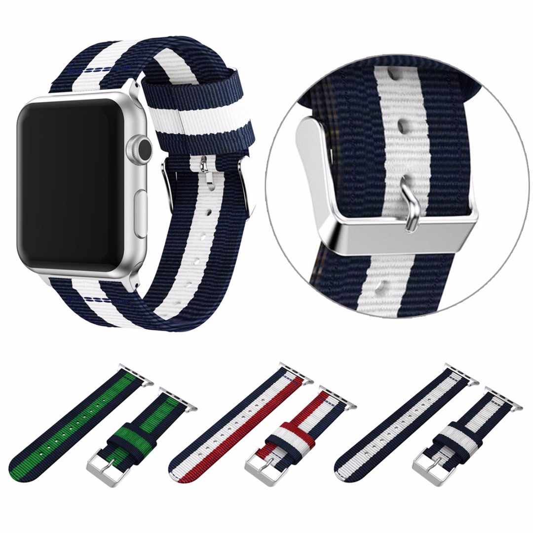Shellhard 4 Colors Nylon Wrist Band Strap Replacement For Apple Watch Nylon Band For iWatch Apple Watch 3 2 1 38mm/42mm все цены