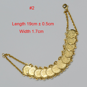 Image 5 - Anniyo Gold Color Money Coin Bracelet Islamic Muslim Arab Coins Bracelet for Women Men Middle Eastern Jewelry African Gifts