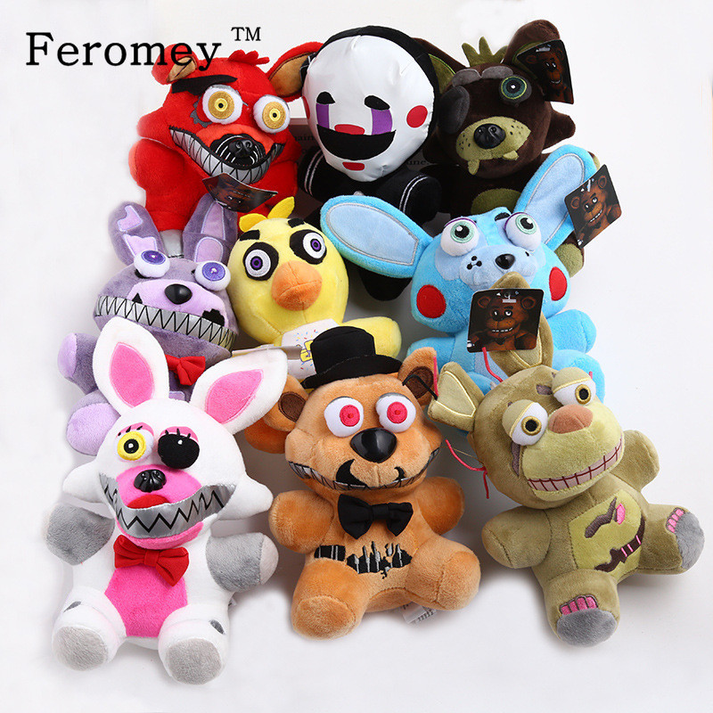 Promotion Five Nights At Freddy's Fnaf Plush Doll Toys Freddy Fazbear Bear Foxy Bonnie Chica Fnaf Soft Stuffed Toys for Children wholesale five nights at freddy s 4 fnaf freddy fazbear bear foxy plush toys doll kids birthday gift
