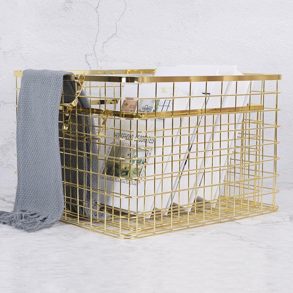 Modern Wall Mounted Metal Rack Circular Mesh Iron Shelf Industrial Style Shelf Office Sundries Organizer Home Decor Golden