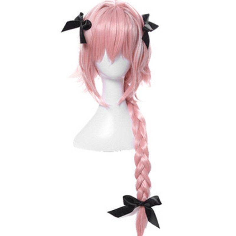 pink anime cosplay hair for women Fate/Apocrypha cosplay pink braid hair lovely anime pa ...