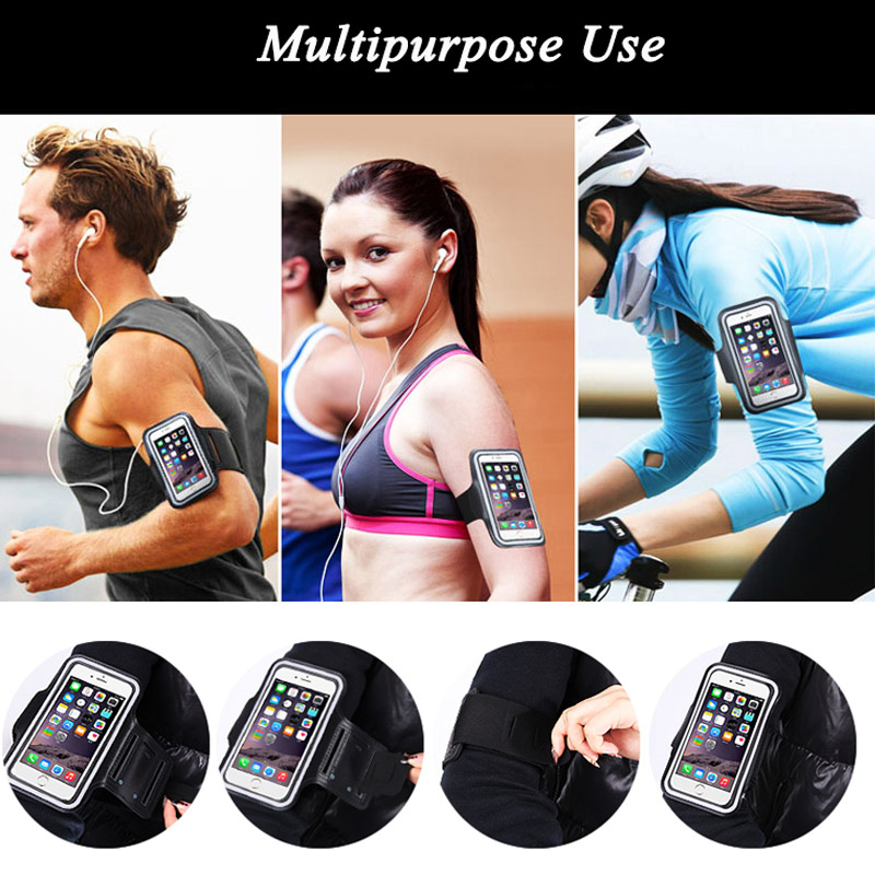 For Asus Zenfone Max 2 Laser 5 ZC550kl ZE551ml ZE500kl Case Universal Arm Band Pounch Pouch Workout Bag Gym Sport Case Cover