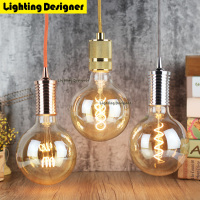 Golden G125 220V 4W Led Edison Bulb Dimmable Light Vintage Led Filament Bulb Energy Saving Lamp