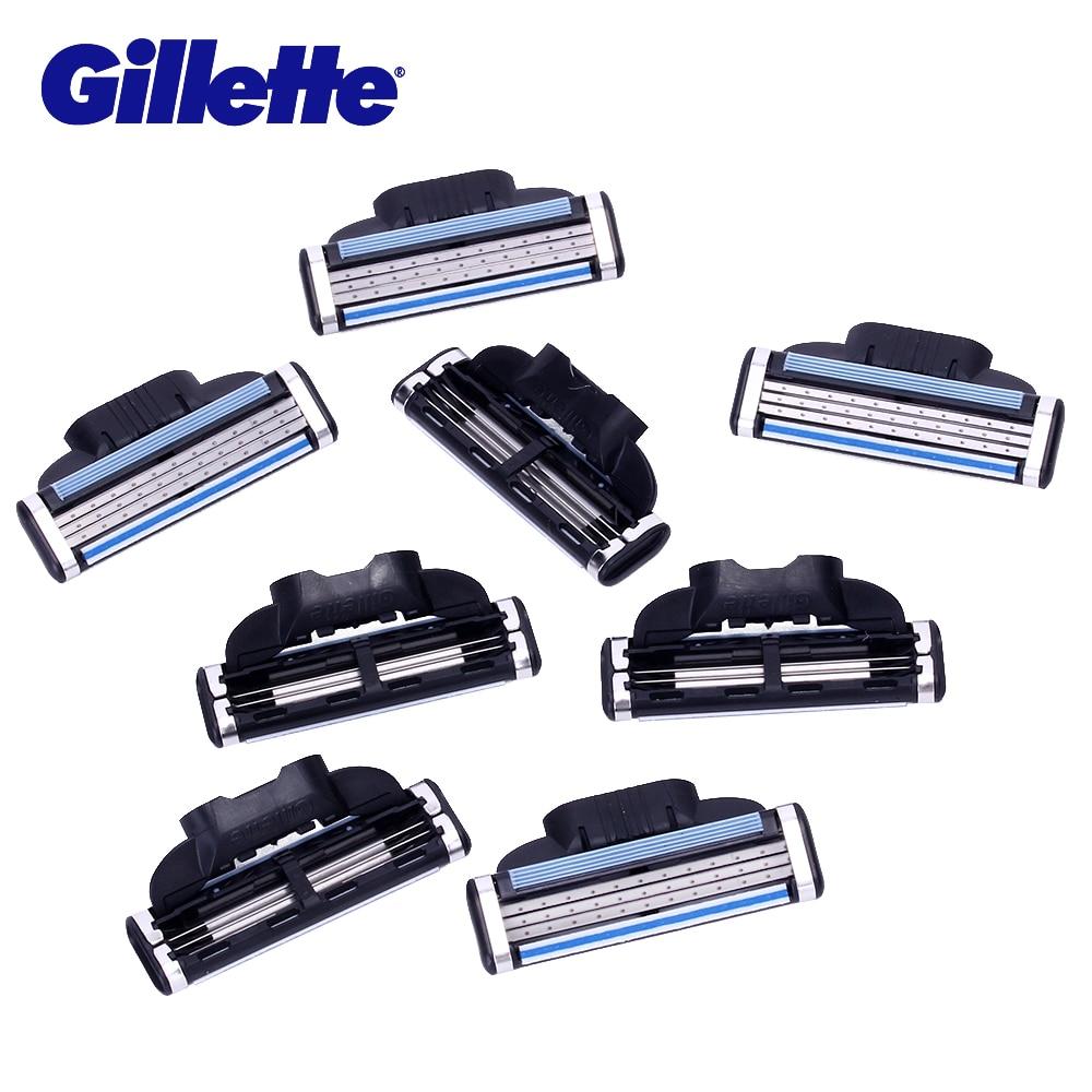 Gillette Mach 3 Hommes de lames de rasoirs Visage Rasage lame de rasoir Pour Hommes Visage Épilation 8 Tête Sharp trois couches lame de rasoir Outil - 3