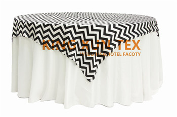 150cm x 150cm Chevron Satin Table Overlay For Table Cloth Wedding Event Decoration Free Shipping