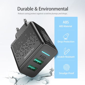 Dual USB Charger 5V 2.4A Fast Charging Wall Charger Cellphones & Telecommunications