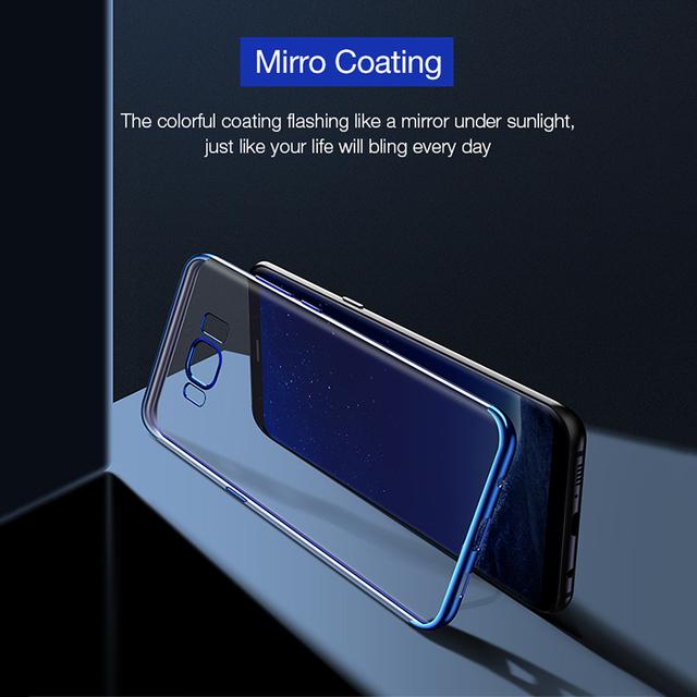 Transparentný pokovovaný TPU obal pre Samsung Galaxy S8 – S8 plus
