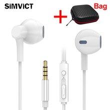 Stereo Bass Earphone Half in-ear Headset With Microphone For iphone 5 5s 6 6s Plus Xiaomi Samsung fone de ouvido MP3 цена в Москве и Питере
