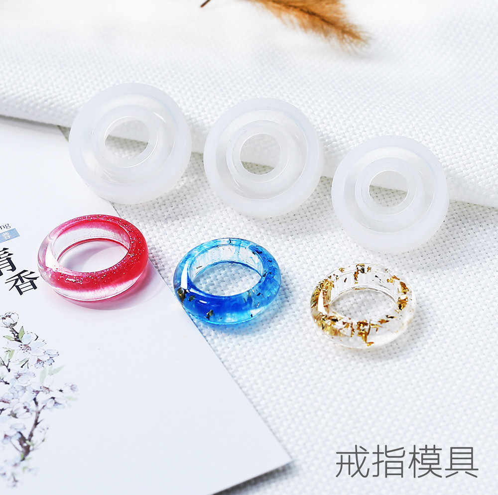 Silicone Mold Smooth Ring for jewelry making Resin Silicone Mould handmade tool DIY Craft epoxy resin molds