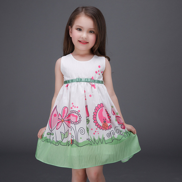 f05a26d2eca3a US $18.99 |2017 Summer Children Girls Dresses Lovely Baby Girls A Line  Dress Baby Kids Sleeveless Dress for Children's Clothing 3 10Y-in Dresses  from ...