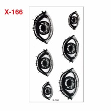 Waterproof Temporary Tattoo Sticker 3D Lifelike Eyes Tattoo Water Transfer Flash Tattoo Fake Tattoo For Women Men Kids