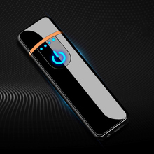 Cigarette Lighters USB Chargeable Electronic Windproof Smooth Touch Metal Lighter for Smoking Man Women Accessories Dropshipping