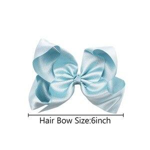 Image 5 - 20 個ブリンブリングリッターキラキラ髪弓 6 インチグリッターグログランリボンワニ口のヘアクリップ子供十代の若者たち