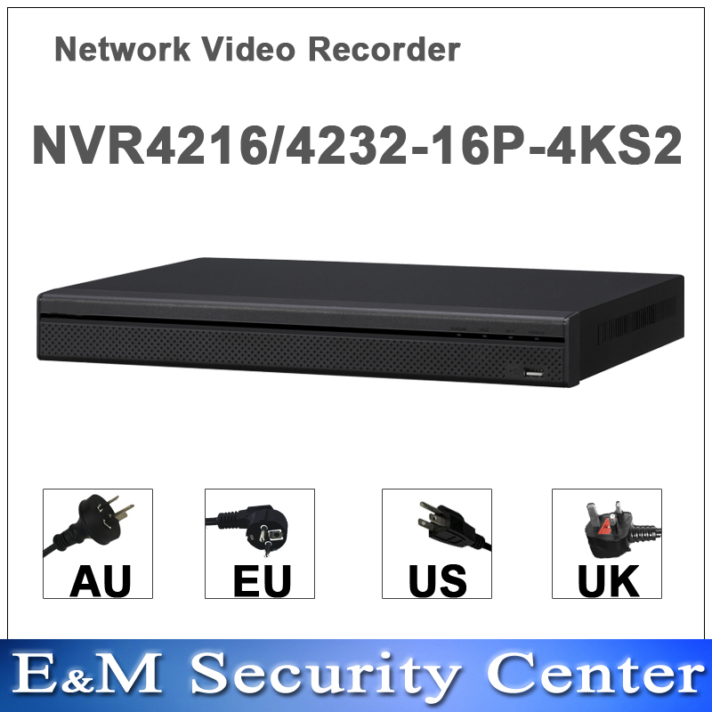 Original english dahua NVR4216 16P 4KS2 NVR4232 16P 4KS2 replace NVR4216 16P NVR4232 16P H265 H264