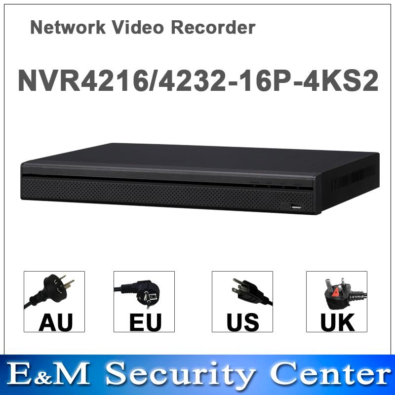 Original english dahua NVR4216 16P 4KS2 NVR4232 16P 4KS2 replace NVR4216 16P NVR4232 16P H265 H264