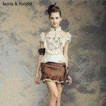 Vintage Beige Cotton and Lace Steampunk Victorian Halter Blouse SP139WI