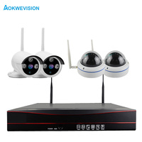 Plug Play 1080P Wireless NVR Kit WIFI CCTV System 1080P 2MP Outdoor Security IP Camera Surveillance