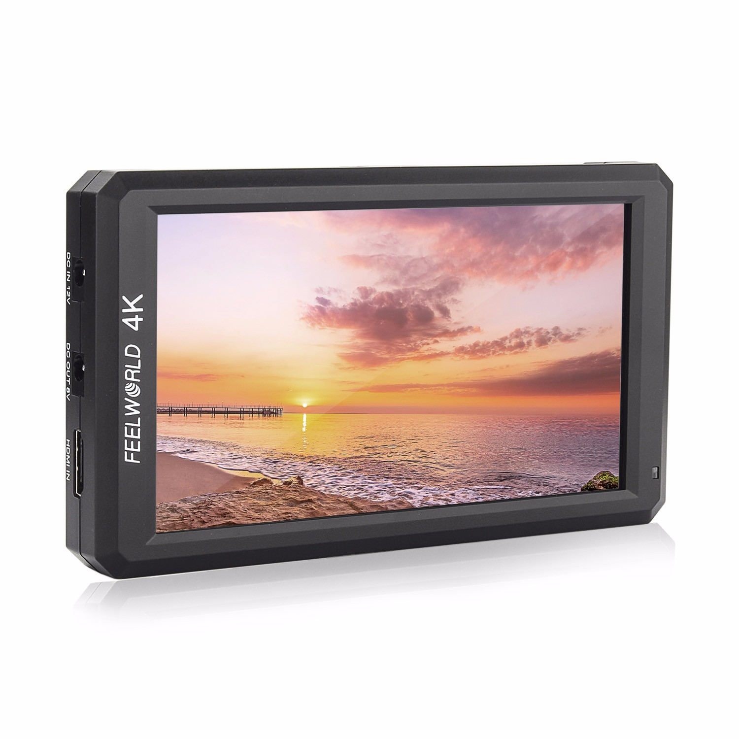 DHL Feelworld F6 Professional Grade 5.7 IPS 4K HDMI Camera-top Monitor for Camera/Video it CanPower for DSLR orMirrorlessCamera