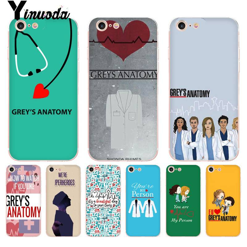 Phone Bags & Cases Honey Yinuoda Grays Anatomy Doctor Nurse Stethoscope Transparent Phone Cover Case For Iphone 8 7 6 6s Plus X 10 5 5s Se Xr Xs Xsmax Special Summer Sale Half-wrapped Case