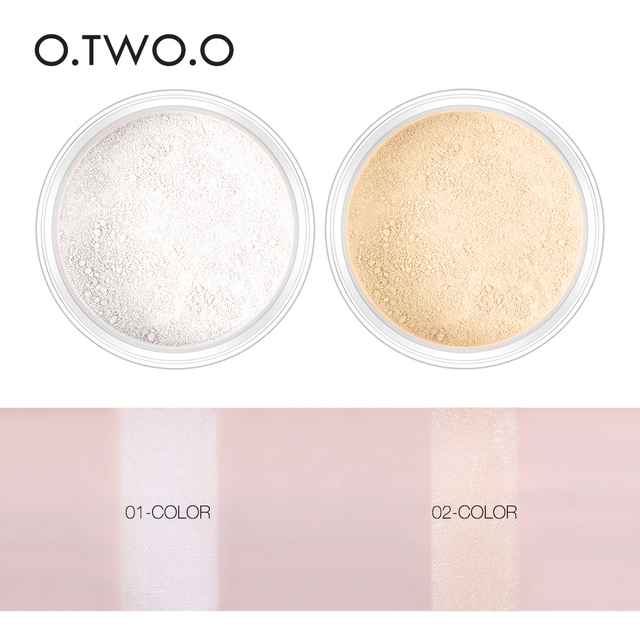O.TWO.O Smooth Loose Powder Matt Makeup Transparent Finishing Powder Waterproof Cosmetic Puff For Face Finish Setting With Puff 3