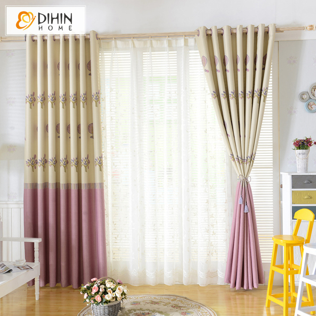 Dihin 1 Pc Ready Made Curtains Tree Pattern For Living Room Bay Window