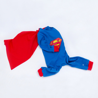 YK Loving Superman Kids Cosplay Costume Baby Boy Warm Autumn Winter Clothing 2018 New Style Cheap