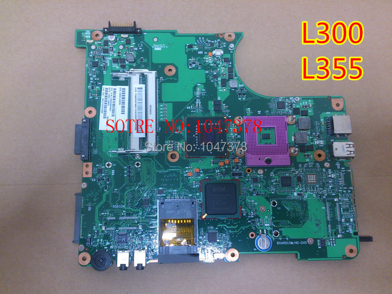 Wholesal Laptop motherboard for TOSHIBA L300 L355 PN V000148080 6050A2170201-MB-A03 fully tested 45 days warranty