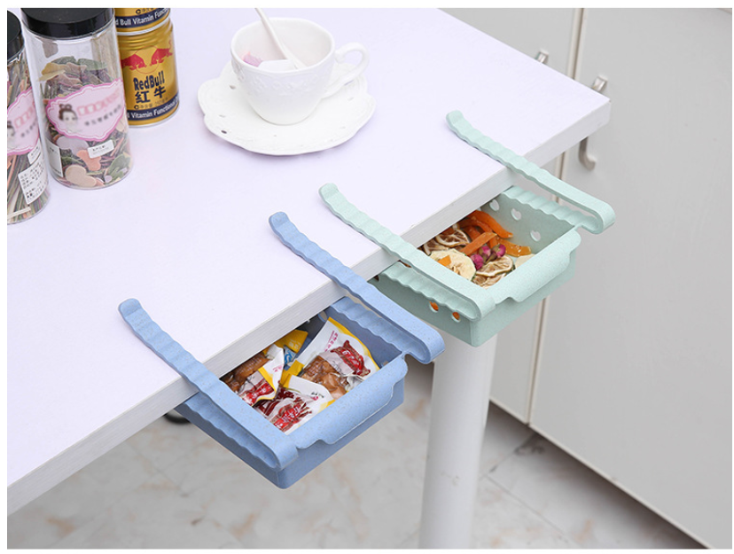 Image 4 - Kitchen Organizer Adjustable Refrigerator Storage Rack Fridge Freezer Shelf Holder Pull out Drawer Organiser Space Saver-in Storage Drawers from Home & Garden